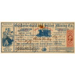 Gasherie Gold & Silver Mining Company Stock Certificate  106992