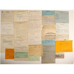 Tonopah and Goldfield Mining Ephemera Collection: Billheads, Letters, Documents, etc. (30)  99531