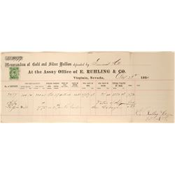 Ruhling & Company Assay; with Green 5c Nevada Revenue Stamp  108363