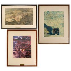 3 Large Framed Kennecott Copper Photos  76825
