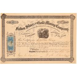 Fulton Silver & Gold Mining Company Stock Certificate  107426