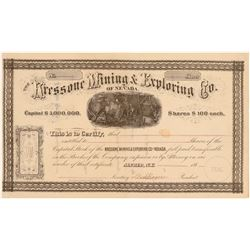 Kressone Mining & Exploring Co. of Nevada Stock Certificate  106919
