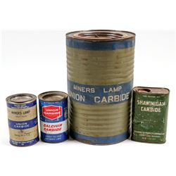 Carbide Tin Cans /  4 Items  106295