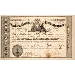 New York & Montgomery Mining Co. Stock Certificate, 1852  572078