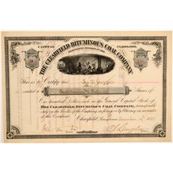 Clearfield Bituminous Coal Company Stock Certificate  106956