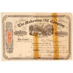 RARE Mahoning Oil Company Stock Certificate  104521