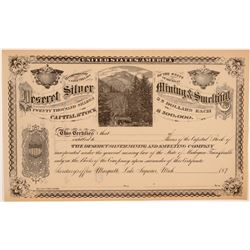 Deseret Silver Mining & Smelting Company Stock Certificate  106959