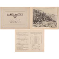 Mining Prospectus / Carisa Copper.  109658