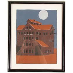 Silkscreen Print of Silver King Building  61568