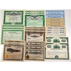 Stock  Certificates /  All Utah / About 25 Items  106279