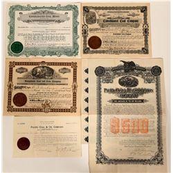 Washington Coal Mining Stocks & One Bond  107575