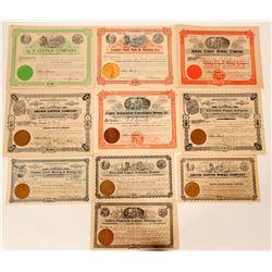 Washington Copper Mining Stock Certificates  107574
