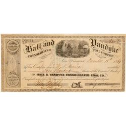 Hall & Vandyke Consolidated Coal Company Stock Certificate  106945