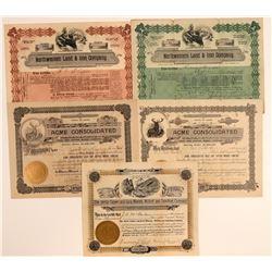 Laramie County, Wyoming Mining Stock Certificates (5)  106715
