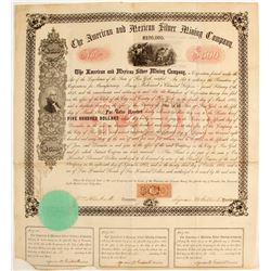 American & Mexican Silver Mining Company $500 Bond  62276