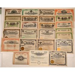 Sonora Mining Stock Certificate Collection (24)  106815