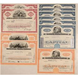 Major US Mining Company Stock Certificates  108148