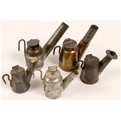 "Miners "" Tea Pot""  Cap lamps / 5 Items.  106298"
