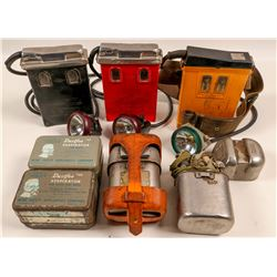 Miners Lights & Respirators  / 7 Items.  109587