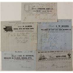 Five 1850's San Francisco Billheads (Two Pictorial)  57366