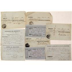 IOOF 1850's Paperwork  57369
