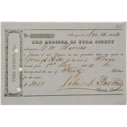 1854 Youngs Hill Liquor License for GW Barns.  57372