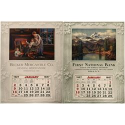 Becker Mercantile 2 Sided Wall Calendar  100028