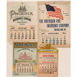 Fire Insurance Companies / Advertising Calenders / 4 Pieces..  109670