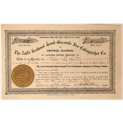 Lytle Sectional Hand Grenade Fire Extinguisher Co. Stock Certificate  107614