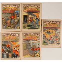 Firemen's Story Books / Wide Awake Weekly/ 5 Items  109648