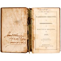 The Washington Directory and Congressional and Executive Register  80260
