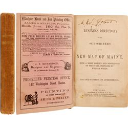 Business Directory of the Subscribers to the New Map of Maine, 1862  82803