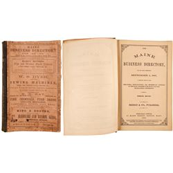 The Maine Business Directory for September 1, 1867  82805