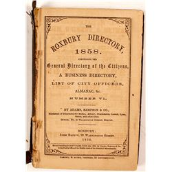 The Roxbury Directory, 1858, Number VI  82815