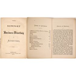 The Newport Business Directory and Advertiser, 1870  82841