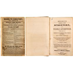 Brooklyn Directory for 1845 & 6  82865
