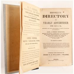 The Brooklyn Directory and Yearly Advertiser for 1849 & 50  82862