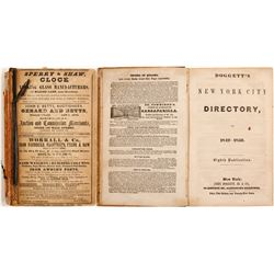 Doggett's New York City Directory for 1849-1850  82873