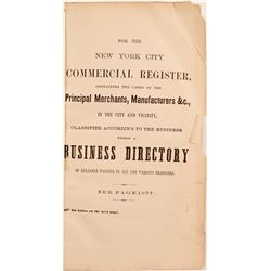 The New York City Commercial Register and Business Directory, 1865  82871