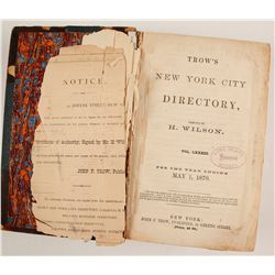 Trow's New York City Directory. 1870  82879