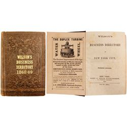 Wilson's Business Directory of New York City, 1868-69  82876