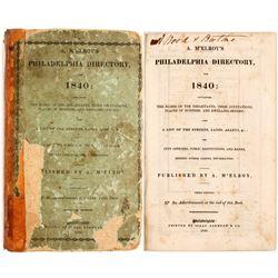 M'Elroy's Philadelphia Directory for 1840  82957