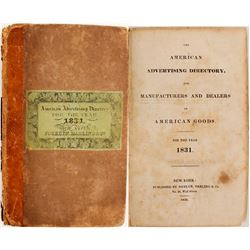American Advertising Directory, 1831  82973
