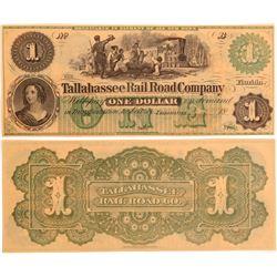 Tallahassee Railroad Company $1 Scrip  108137
