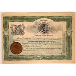 American Penny Express Company Stock Certificate  107480