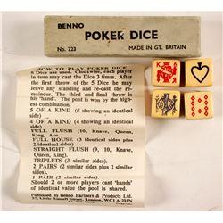 Benno Poker Dice in Box  89840