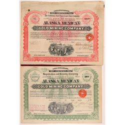 Alaska Mexican Gold Mining Bonds (2)  108196
