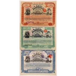Alaska Treadwell Gold Mining Stocks and Bonds (3)  108194