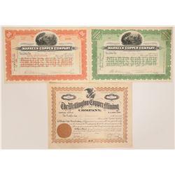 Clifton / Morenci, Arizona Mining Stock Certificates  107586