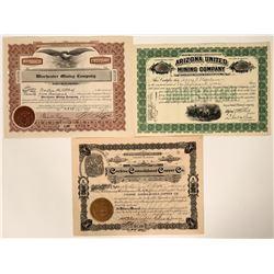 Three Different Cochise County, Arizona Mining Stocks  107498